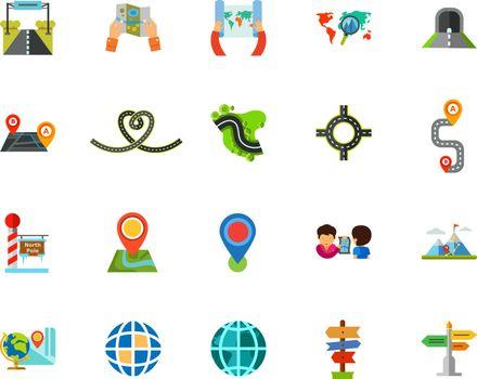 Journey icon set