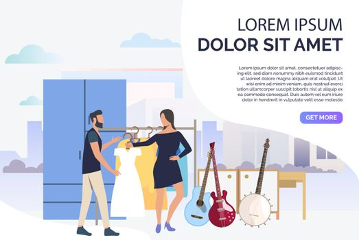 Musicians choosing clothes for concert