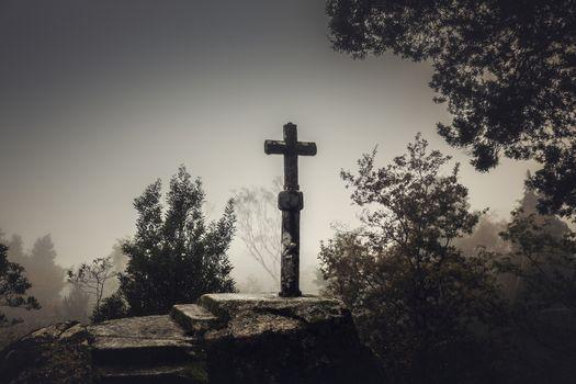 Religious stone cross