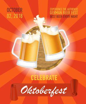 Octoberfest, authentic beer poster design