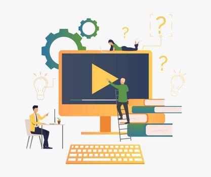 People creating video