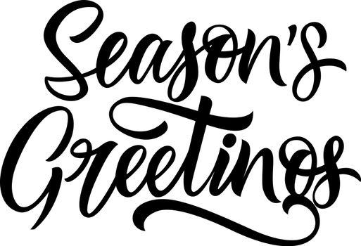 Seasons greetings lettering