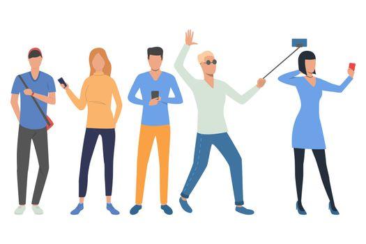 Set of smartphone users