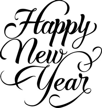 Happy New Year calligraphic text