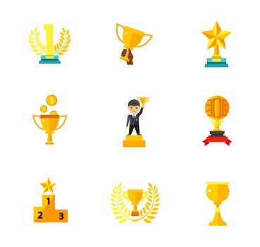 Competition award icon set