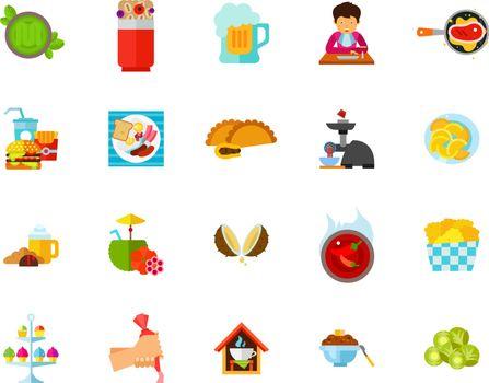 Various dish icon set