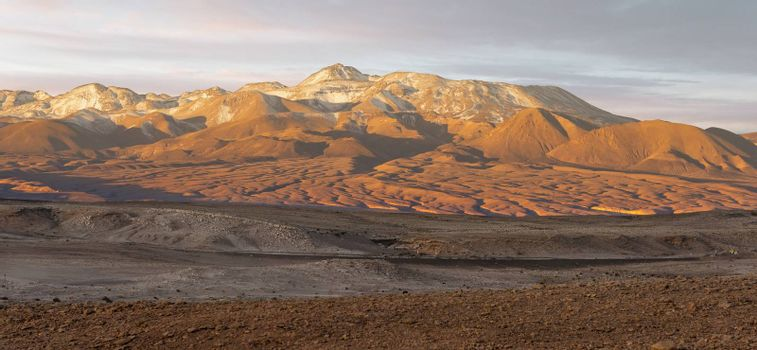 Sunset at Moon Valley Valle de la luna near San Pedro de Atacama, Chile.