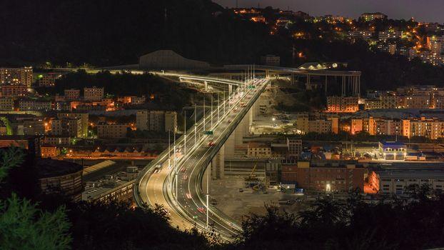 The new San Giorgio bridge in Genoa, Italy.