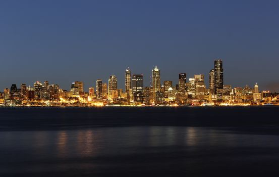 Nighttime Skyline of Seattle Washington