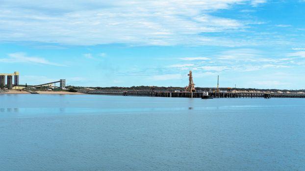 Scenic Harbor Exporting Sugar, Coal And Grain