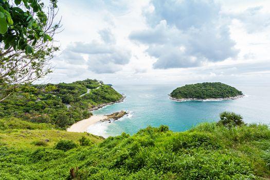 Tropical beach and island at Phuket Province, Thailand.