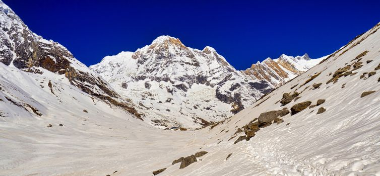 Annapurna South, Annapurna Range, Annapurna Conservation Area, Himalaya, Nepal