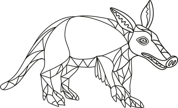 Aardvark Black and White Mono Line