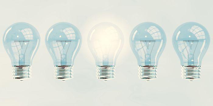 Creativity Concept With Unique Light Bulb Creative Concept