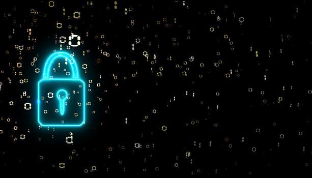 security power lock binary digital paticle explosive gold dollar