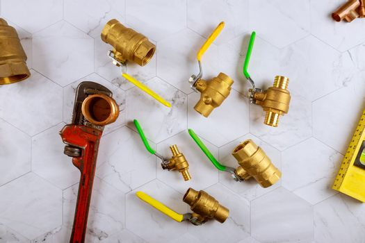 Repairing adjustable wrench on brass fittings for plumbing pipe