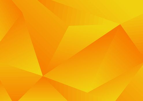 Abstract yellow geometric low polygon background and texture. Vector illustration