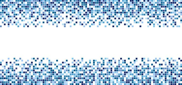 Blue square pattern mosaic isolated on white background with space for your text. Vector illustration