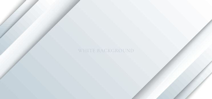 Abstract white and gray paper shine and layer element background. Monochrome geometric elegant luxury style. Vector illustration
