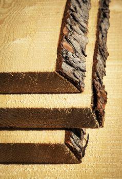 raw unprocessed spruce boards