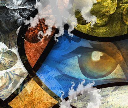 The eye abstract. Modern art. 3D rendering