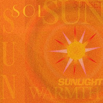 The Sun Warmth. Abstract background. 3D rendering
