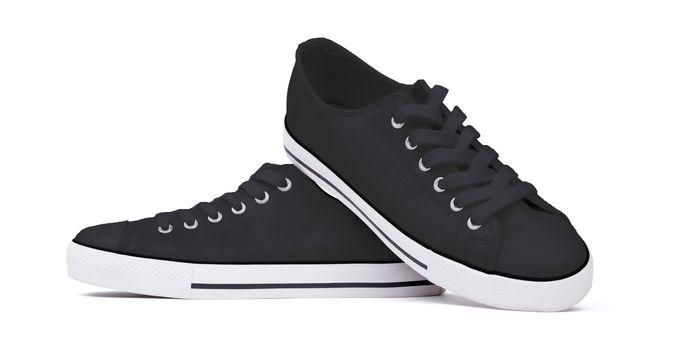 Shoes isolated on white background - Black