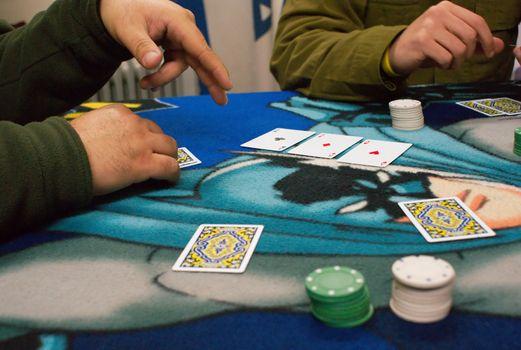 poker play in casino
