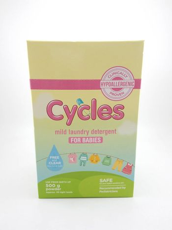 MANILA, PH - SEPT 24 - Cycles mild laundry detergent powder for babies on September 24, 2020 in Manila, Philippines.
