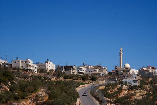 Palestine village on West Bank