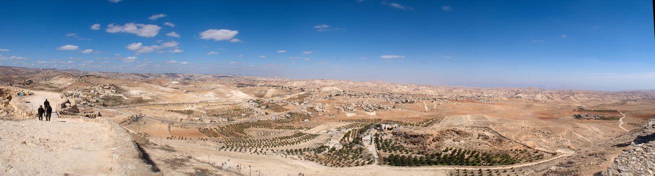 Judea landscape panorama -Jerusalem and Beit Lechem