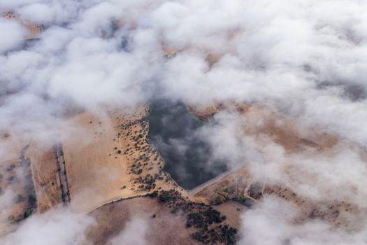 hot air balloon view