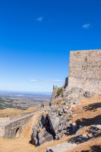 Marvao castle on the top of a mountain