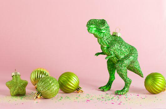 T-Rex christmas ornament