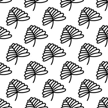 Herbal seamless pattern. Isolated on white background. Vector stock illustration.