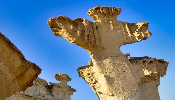 Erosions of Bolnuevo, Natural Heritage of Región of Murcia, Spain
