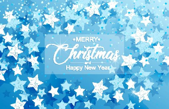 Vector Christmas background, Merry Christmas card with snow