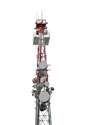 Tower with cell phone antenna system