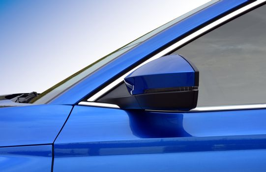 Side mirror with turn signal of a car