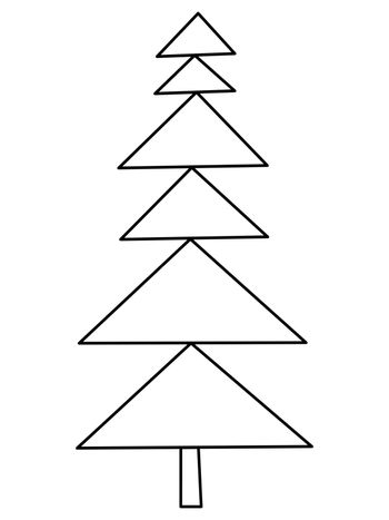 Single hand drawn new year fir tree. Doodle illustration for patterns, winter greeting cards, posters, stickers and seasonal desing.