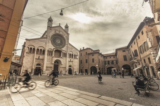 MODENA, ITALY 1 OCTOBER 2020: Modena's cathedral in the historiacl city center