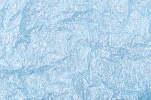 Abstract light blue korean traditional paper texture with small glitters.