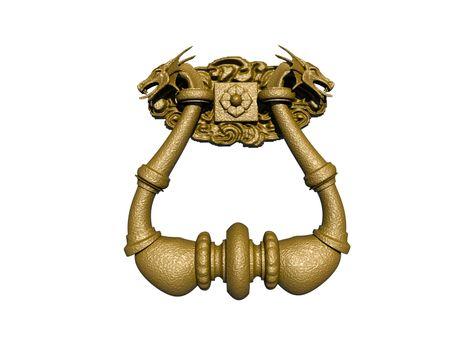heavy bronze curved door knocker