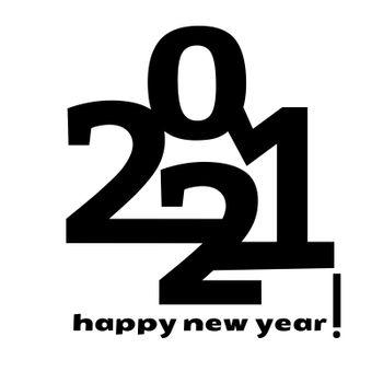 Happy new year 2021 vector background. Cover of card for 2021.
