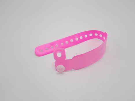 Pink baby name tag wrist ankle binder