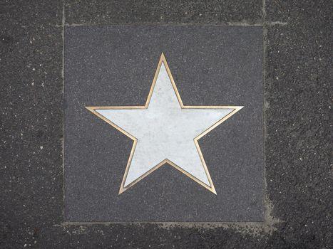 blank walk of fame star