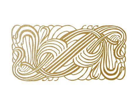 golden intertwined wire braid