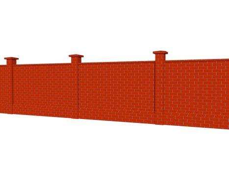 high long stone wall as a boundary