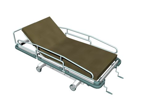 mobile patient stretcher with grille