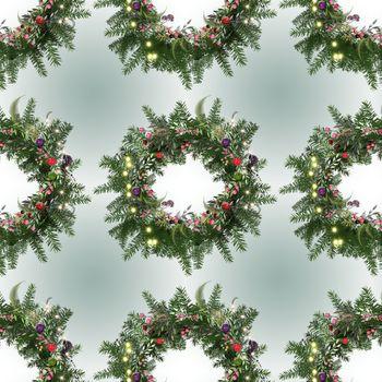 Merry christmas happy new year luxury seamless pattern
